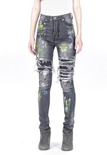 HAM grey H1 Cosmo Patch Ladies Antariksa Grey - Celana Jeans 39987AA01B2105GS_1