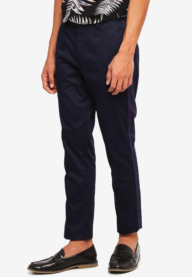 Skinny Navy Trousers River Navy Island Taping qPv5B0vwp