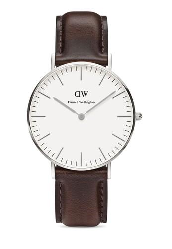 36mm Bristol 經典手錶, 錶esprit outlet 家樂福類, 皮革錶帶