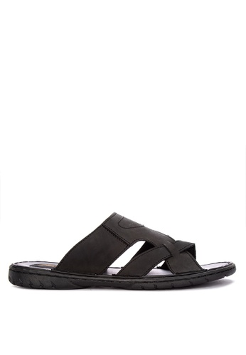 H2Ocean black Acton One-Toe Sandals 86B14SH4DA8FA4GS_1