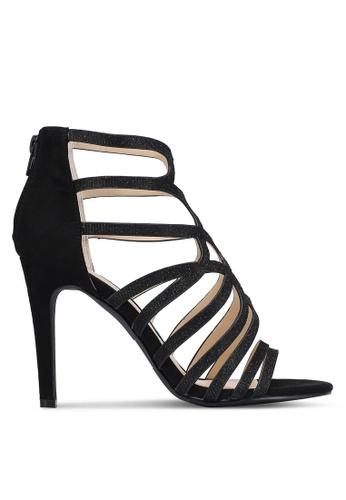 Something Borrowed black Cut Out Peep Toe Heels B2908ZZ7A23C5EGS_1
