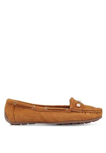 Carlton London brown Embellished Loafers AF36ESHFA0C845GS_1