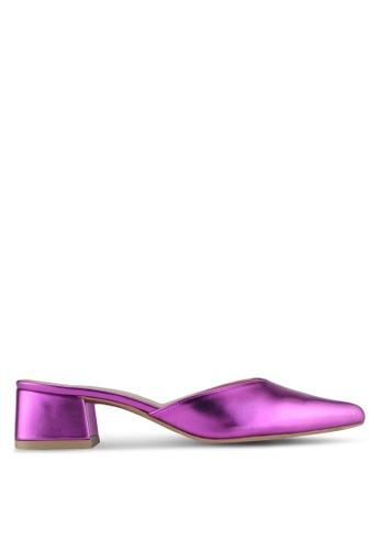 Cipela For Lubna pink Cora Mule Block Heels CF051SHF432482GS_1