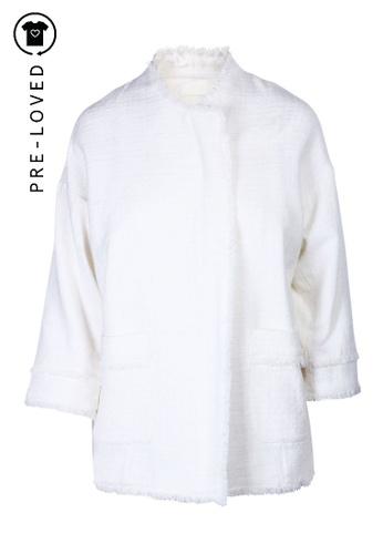 Joie white Pre-Loved joie White Wool Zip Blazer 08B9EAA5427EB6GS_1