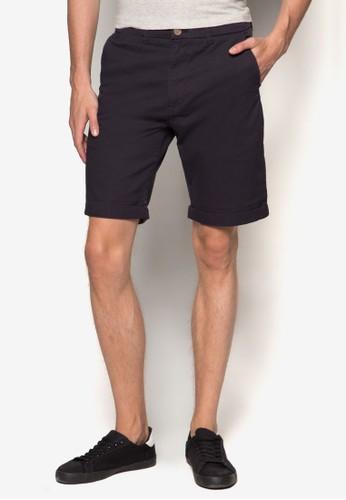 彈性斜紋短esprit香港分店褲, 服飾, 短褲