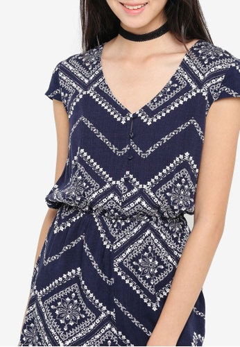 78a8d150792 Buy ZALORA Love Button Front Playsuit With Cap Sleeves