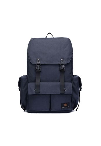 The Dude navy Predator Backpack TH373AC53CHAHK_1