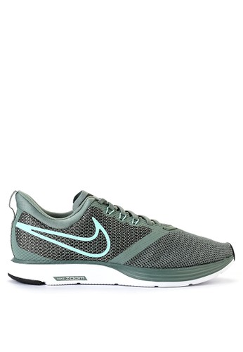Nike green and multi Men's Nike Zoom Strike Running Shoes CFBE4SHCB017C5GS_1