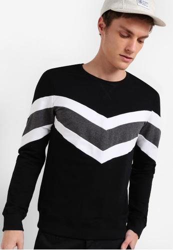 Murzaman black Techno Sweatshirt MU501AA42NHTMY_1