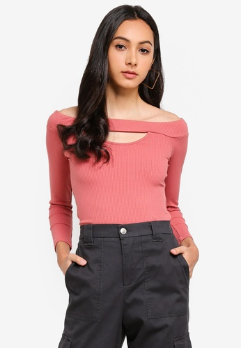 Supre pink Ava Off The Shoulder Top D3645AAC4F9901GS_1
