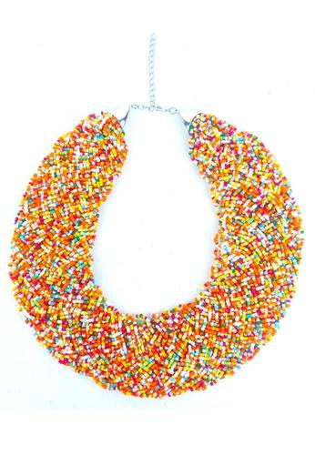 BELLE LIZ multi Colorful Beads Beach Necklace 30005AC6309130GS_1