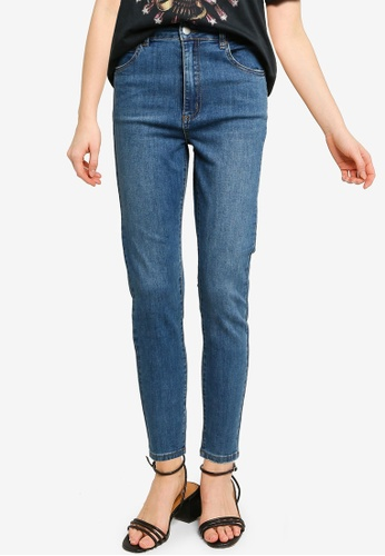 Cotton On 藍色 High Rise Cropped Skinny Jeans DD8B0AA0776E2EGS_1