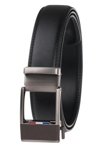 FANYU grey Leather Dress Belt With Automatic Buckle belt 3F567ACF90DABFGS_1