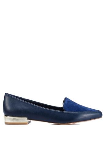 ALDO 海軍藍色 Abbatha 樂福鞋 1FF84SH7DBECA1GS_1