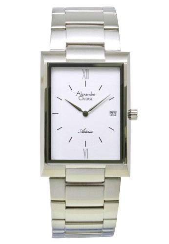 Alexandre Christie white and silver Alexandre Christie Jam Tangan Pria - Silver White - Stainless Steel - 8535 MDBSSSL AL709AC0VF8HID_1