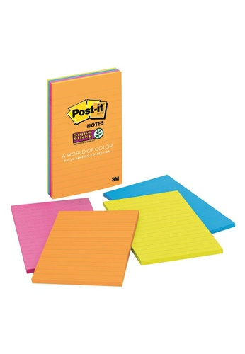 Post-IT 3M Post it Super Sticky Lined Notes Rio de Janeiro Collection, 4 in x 6 in, , 4 Pads/Pack 1B5A0HL877D1B0GS_1