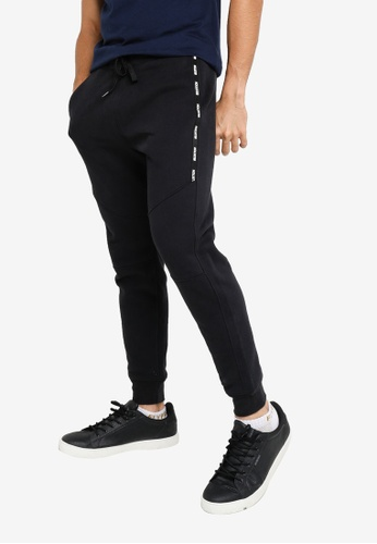 Hollister black Tapes Jogger Long  Pants 7BC69AA33FA50EGS_1