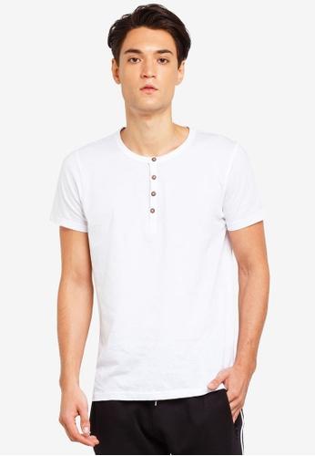 Brave Soul 白色 短袖品牌刺繡T恤 1C1E8AA6D992A2GS_1