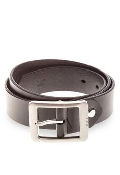 Men's Black Genuine Leather Belt
