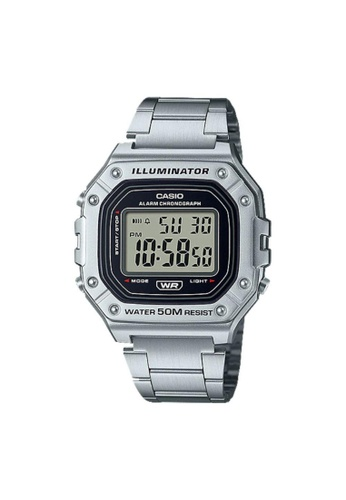Casio silver CASIO GENERAL W-218HD-1AVDF MEN'S WATCH 837FFAC434CEF9GS_1