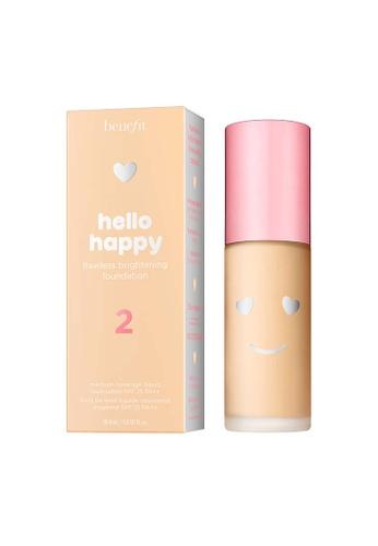 Benefit beige Hello Happy Flawless Brightening Foundation Shade 02 62F4FBE814671BGS_1