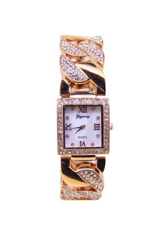 Japan Design 18K Rose Gold Plating Chain Watch