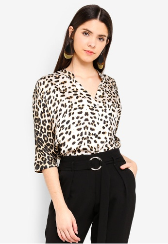 River Island multi Leopard Print Button-Up Blouse 209D3AA8E62A30GS_1