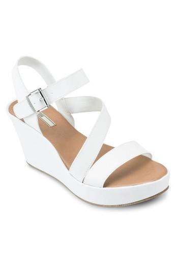 esprit outlet 高雄仿皮繞踝楔形涼鞋, 韓系時尚, 梳妝