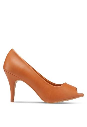 Carlton London 褐色 魚口高跟鞋 6AC7BSH16CA5D2GS_1