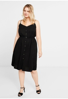 b3b06d148494e 44% OFF Violeta by MANGO Plus Size Spaghetti Strap Dress RM 177.90 NOW RM  99.90 Sizes S M L XL XXL