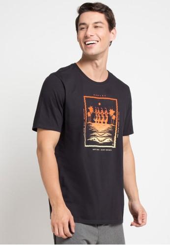 hurley black Beach Punk T-Shirt E47F0AA0F90F28GS_1