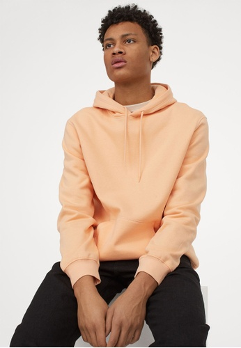 H&M orange Relaxed Fit Hoodie C7245AA29A5C22GS_1