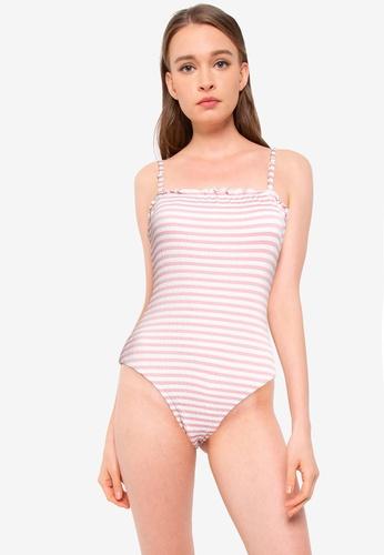 Vero Moda pink Emily Swimsuit C2150US1AC4C35GS_1