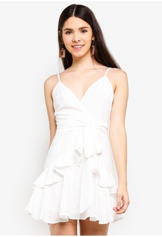 259c553d1d INDIKAH white Tiered Ruffle Dress With Sash 7BEE1AA1BA0FCBGS 1