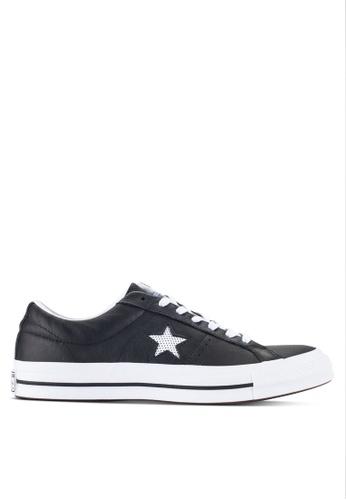 Converse black One Star Ox Men's Sneakers CO302SH88ZAPMY_1