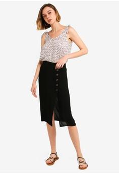 a5dd90cfb 48% OFF Brave Soul Gretchen Midi Skirt S$ 68.90 NOW S$ 35.90 Sizes XS S M L