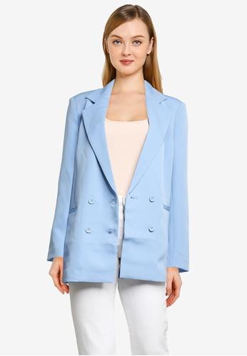 Supre blue Charlotte Oversized Blazer 2254FAA93F41F1GS_1