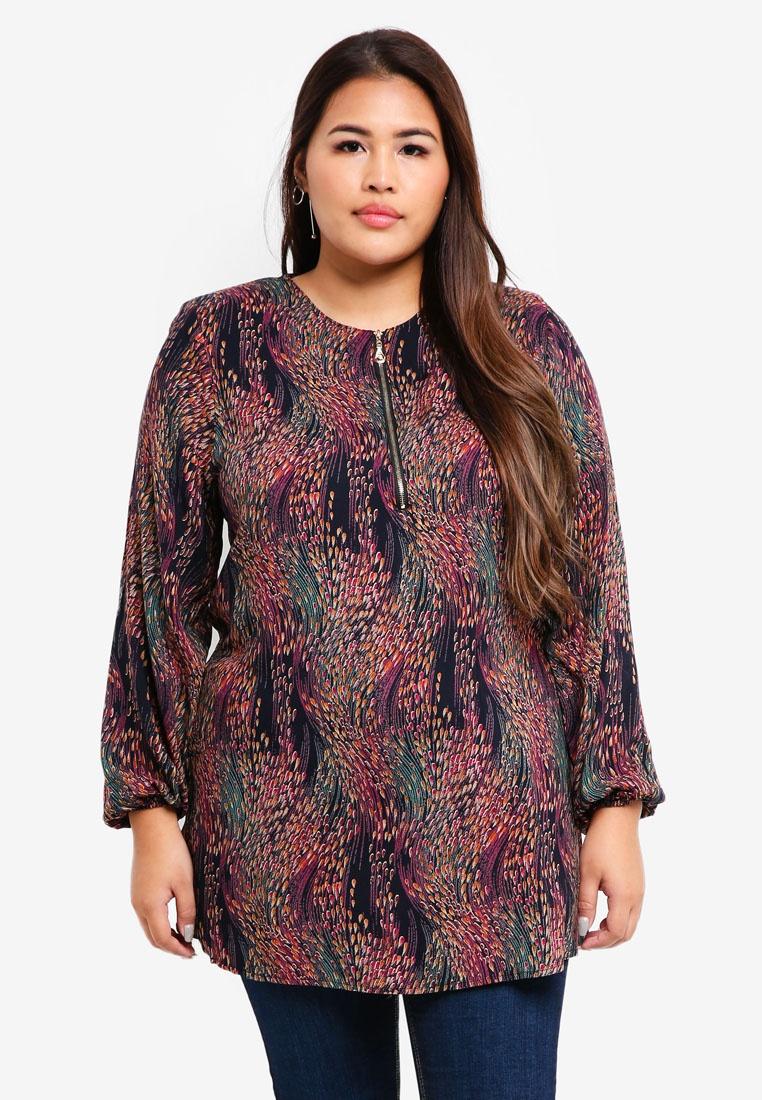 Blouse Size BYN Purple Muslimah Plus q7ttFaw
