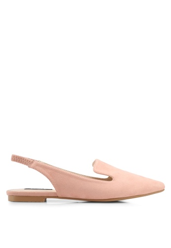 ZALORA pink Loafer-style Slingback Flats 4962CSHE3EE001GS_1