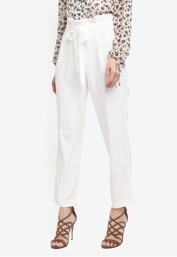 Miss Selfridge white Ivy Paper Bag Trousers AC690AA70DA438GS_1