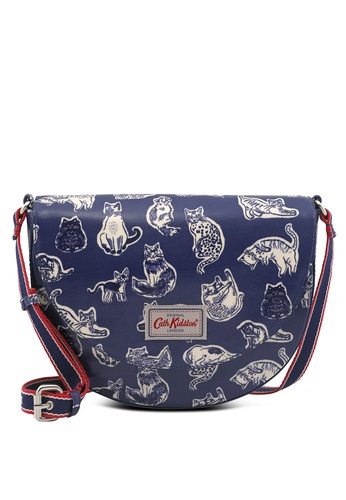 9d6e80950a3a Buy Cath Kidston Squiggle Cats Stratton Saddle Bag Online on ZALORA  Singapore