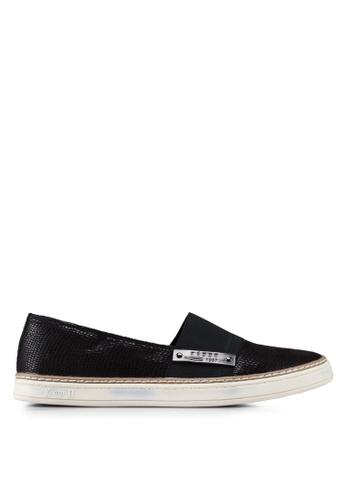 Keddo 黑色 網眼懶人鞋 E487CSH46796EBGS_1