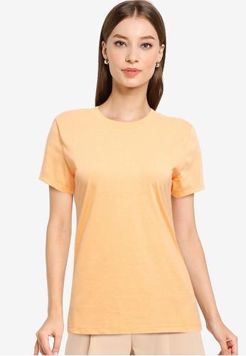 Tolliver orange Round Neck Basic Short Sleeve Tee 4224DAAB370D0EGS_1
