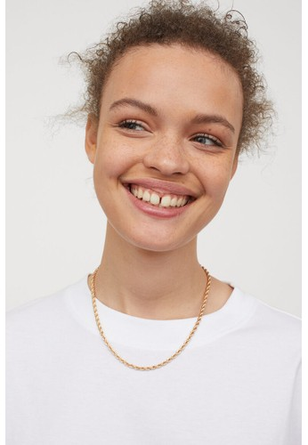 H&M white Oversized T-shirt 20E9FAAED51C5DGS_1