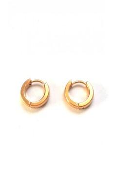 Stainless Gold Hoop Earrings