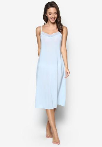 蕾絲邊飾細肩帶睡裙, 韓系時esprit china尚, 梳妝