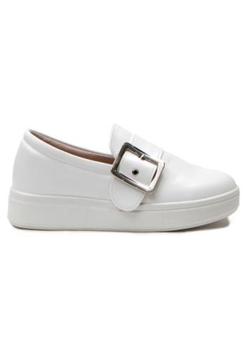 Crystal Korea Fashion white Korean New Versatile Comfortable Slip-Ons FE034SH86700C4GS_1