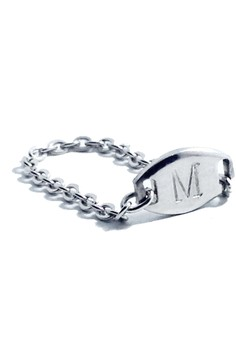 Stainless Steel Stamped Initial Ring