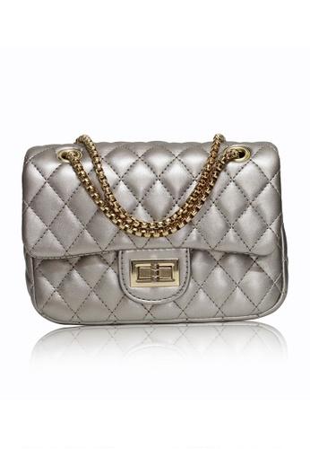 Dazz silver Quilted Crossbody Bag (L) - Bronze DA408AC05JEKMY_1