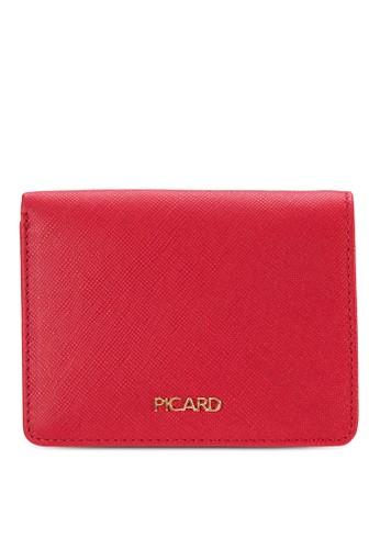 EW 暗紋對折卡片夾, 包, esprit hk皮夾及零錢包